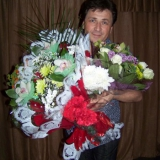 Михаил Михайлов и цветы от Питерских поклонников