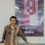 Михаил Михайлов в студии телеканала