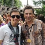 С Родионом Газмановым на празднике 11 июня на ВДНХ