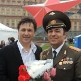 С другом, артистом - Эдуардом Лабковским на концерте Победы!! 9 мая