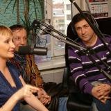 Михаил Михайлов, АнгелиЯ, Сергей Дроздов в студии радио ШАНСОН (Киев)